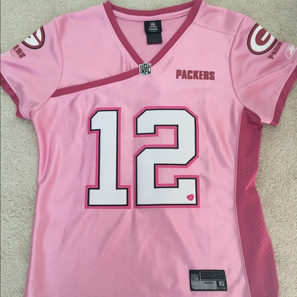 aaron rodgers pink jersey